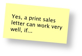 """Do """"snail mail"""" sales letters still work?"""